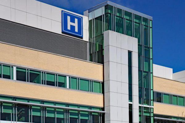 Hospital with blue sky